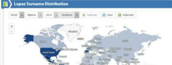 El portal para buscar por el mundo a quienes tienen tu apellido y saber dónde viven