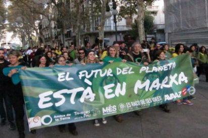 Palma hace subir la temperatura con su gran marcha por el cambio climático