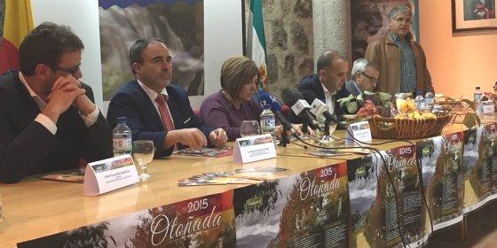 La presidenta de la Diputación de Cáceres felicita al Valle del Jerte