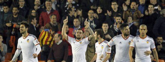Así habló Alcácer de Feghouli después de que el argelino le robara un gol