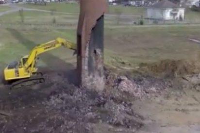 Le cae encima una tonelada de ladrillos y se queda tan ancho