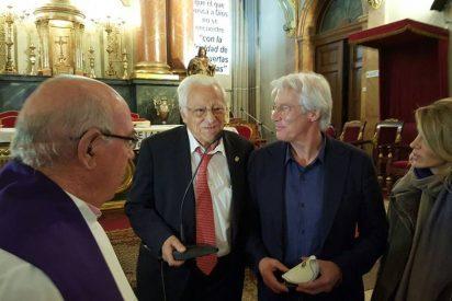 Richard Gere visitó San Antón y se encontró con los sin techo de Madrid