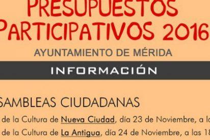 Los ciudadanos emeritenses podrán aportar propuestas a los presupuestos municipales