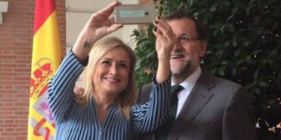 """Cifuentes traslada la """"buena salud"""" de su relación con Ciudadanos a Rajoy"""
