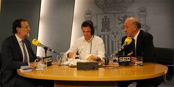 """Capote de Vicente del Bosque a Rajoy ante la insistencia de De la Morena con Cataluña: """"Vamos a hablar de fútbol"""""""