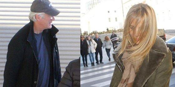 Richard Gere al fin en España y con su novia madrileña Alejandra Silva