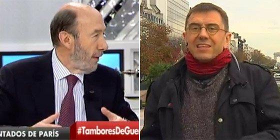 """Rubalcaba retrata a un desinformado Monedero: """"Léase el pacto antiterrorista"""""""