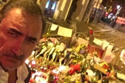 """Carlos Herrera se pronuncia sobre su polémico 'selfie' en París: """"Los memes son geniales"""""""