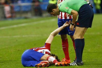 Tiago sufre una fractura en la tibia derecha