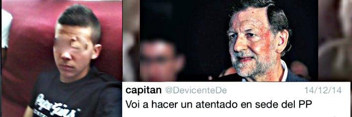 El facineroso izquierdista que agredió al presidente Rajoy será internado seis meses en un 'reformatorio'
