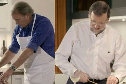 Rajoy juega al futbolín y cocina con Bertín Osborne