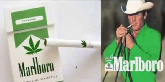 Los cigarrillos de marihuana 'Phillip Porris', en el estanco de la esquina