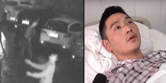 [Vídeo] Así acaba por tratar de salvar a una mujer que cae desde un 11º piso