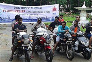 Llueve ayuda humanitaria salesiana en Chennai