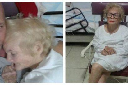 La ternura de un hijo meciendo a su madre enferma de demencia