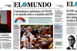 El Mundo no quiere un PP fuerte y se echa a los brazos de Podemos y Ciudadanos