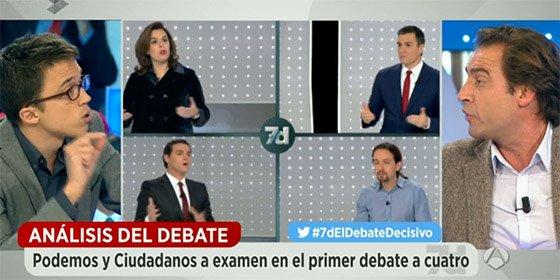 Luis Arroyo y Óscar López le dan un revolcón a Errejón restregándole las ayudas de Irán y Venezuela a Podemos