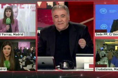 'Al Rojo Vivo: objetivo La Moncloa' arrasa y obtiene la mayoría en la noche electoral con el 17,6%