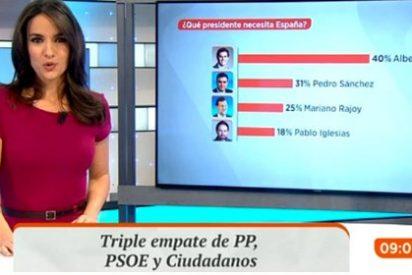 Polémico gráfico de Antena 3 sobre una encuesta electoral