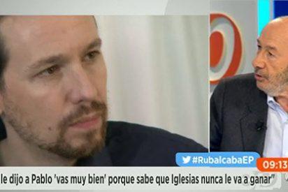 """Rubalcaba castiga a Podemos y a su líder: """"Es un partido leninista en el que quien se mueve no sale en la foto"""""""