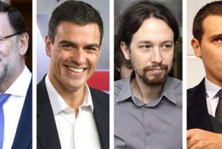 Rajoy, Rivera e Iglesias coinciden en ver a Sánchez fuera de la carrera por la Presidencia