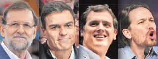 El 'no' del PSOE a Podemos condena a Mariano Rajoy, Pedro Sánchez y Albert Rivera a entenderse