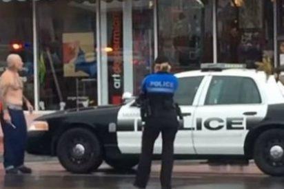 El calvo atracador de bancos al que mata la Policía pegándole dos tiros a bocajarro