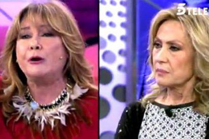 Mila Ximénez regresa a 'Sálvame' entre cachondeo e insultos a Rosa Benito: ¿Por qué no cuentan lo que ha pasado?