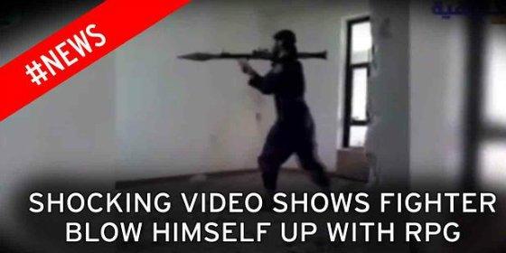 El yihadista miope y manazas se vuela la cabeza con un lanzacohetes