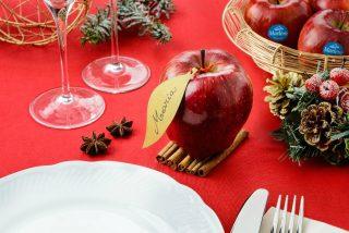 Señalador de mesa navideño con Manzanas Marlene®