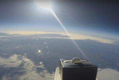 [Vídeo] Envía su anillo de compromiso al espacio junto con una GoPro