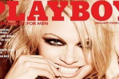 Pamela Anderson en el último desnudo de la portada de Playboy