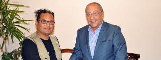 Egipto/ Gobernador de Aswan recibe a Travellers