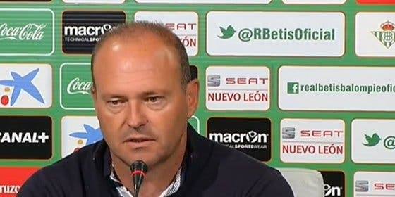 Competición sanciona con dos partidos a Pepe Mel, entrenador del Betis