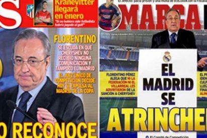 """¡Toma """"campaña a favor"""" de la prensa, Rubén Amón! Los cuatro diarios deportivos masacran a Florentino Pérez en portada"""