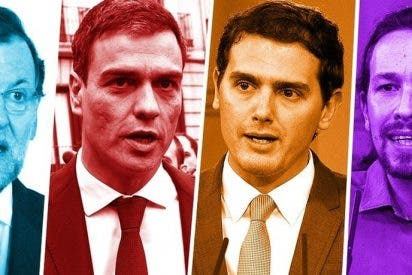 El Parlamento salido de las urnas el 20-D pone en solfa los líderazgos de Rajoy en el PP y de Sánchez en el PSOE