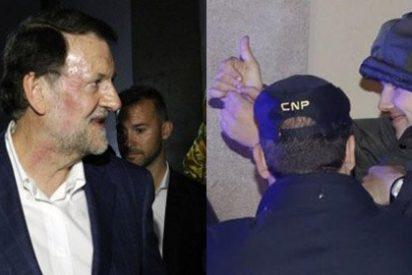 """La izquierda radical se viene arriba con el puñetazo : """"Mariano, sé fuerte, ¡que la gorda te la llevas el 20-D!"""""""