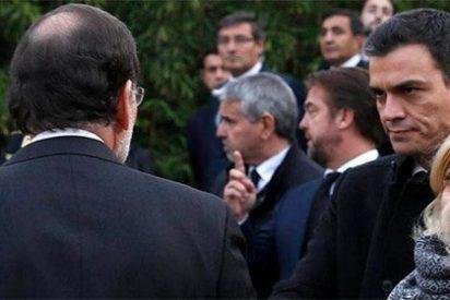 La matadora mirada de Pedro Sánchez: un poco más y se tira al cuello de Rajoy