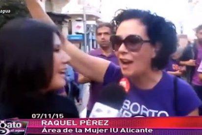 """Una comunista de Alicante monta el Cristo contra la Iglesia: """"Vamos a quemar la Conferencia Episcopal"""""""
