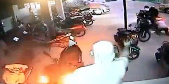 Así dejan parapléjico al ladrón de poca monta que quiso robar una moto