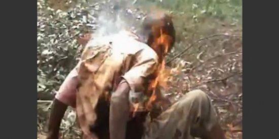La familia quemada viva por tener una lechuza con pinta de bruja