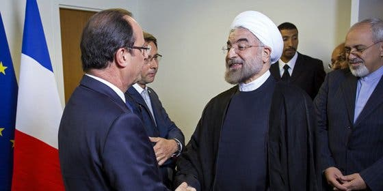 El iraní Rohani exigía que no hubiera vino en el menú y Hollande decidió que mejor cenara en su hotel