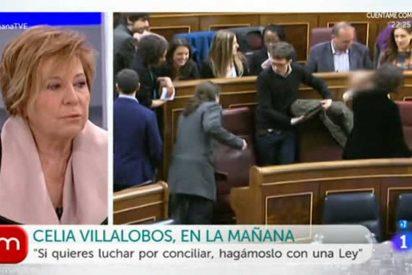 Celia Villalobos la lía con los podemitas: