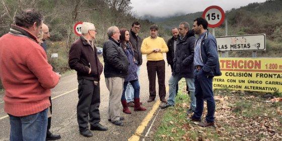 PP pide a Diputación de Cáceres el comienzo de manera urgente las obras de arreglo de la carretera de Las Mestas CC-166 y CC-158