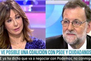 Una implacable Ana Rosa Quintana pone contra las cuerdas a Mariano Rajoy