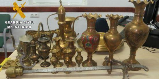 Dos detenidos por el robo de antigüedades de una casa de campo de la provincia de Badajoz