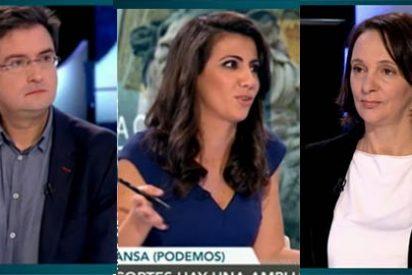 Bescansa deja 'aparcado' al bebé para cargar contra el PSOE y ponerse chula con Ana Pastor