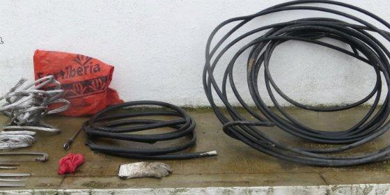 La Guardia Civil sorprendió a una persona robando el cable eléctrico perteneciente al alumbrado público