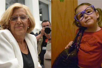 La 'casta' Carmena utiliza a una niña para dulcificar su imagen de abuelita populista