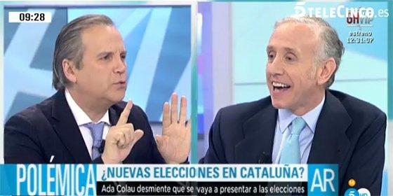 """Carmona intenta sacar cabeza pero Inda le machaca: """"¡Qué morro tienes, no te sabes la historia de España!"""""""
